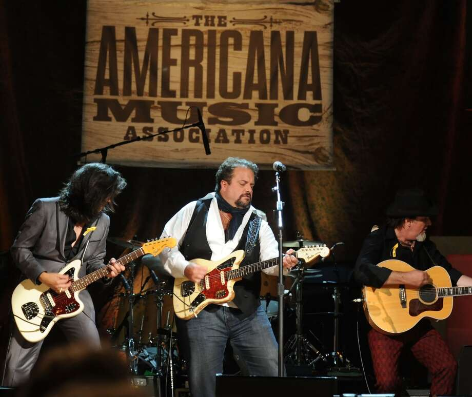 The Mavericks perform at Stamford's Alive @ Five concert series on Thursday, June 27. Here they are at the 11th Annual Americana Honors and Awards at The Ryman Auditorium in Nashville, Tenn. on Sept. 12, 2012. Photo: Rick Diamond, Getty