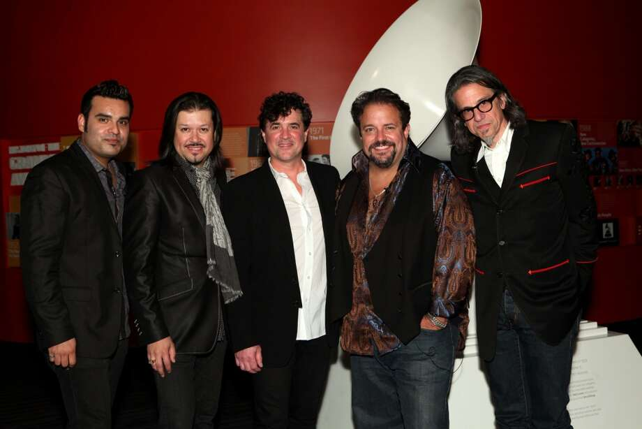 The Mavericks perform at Stamford's Alive @ Five concert series on Thursday, June 27. Here is Michael Guara and Eddie Perez of The Mavericks with President and CEO of Big Machine Label Group Scott Borchetta, Raul Malo of The Mavericks and Vice President of the GRAMMY Foundation Scott Goldman at An Evening With the Mavericks at The GRAMMY Museum in Los Angeles on Sept. 5, 2012. Photo: Rebecca Sapp, WireImage