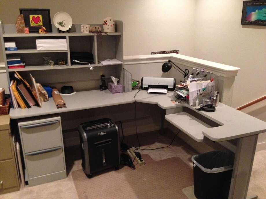 My wife had a similar table, though she used it less in recent years after switching full-time to a notebook computer. Photo: Dwight Silverman, Houston Chronicle