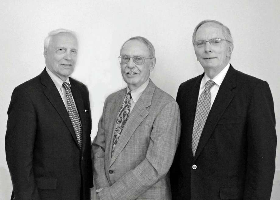 The Senior Men's Club of New Canaan recently elected new officers. From left, Vice President David Conrod, President Brian Hollstein and Vice President Kevin McMahon. Photo: Contributed Photo, Contributed / New Canaan News Contributed