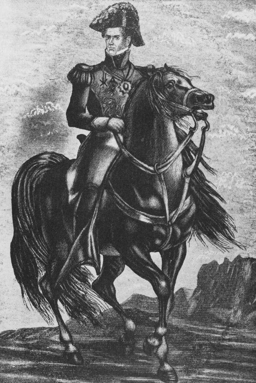 D) Treaties of Velasco Pictured: Gen. Antonio Lopez de Santa Anna.