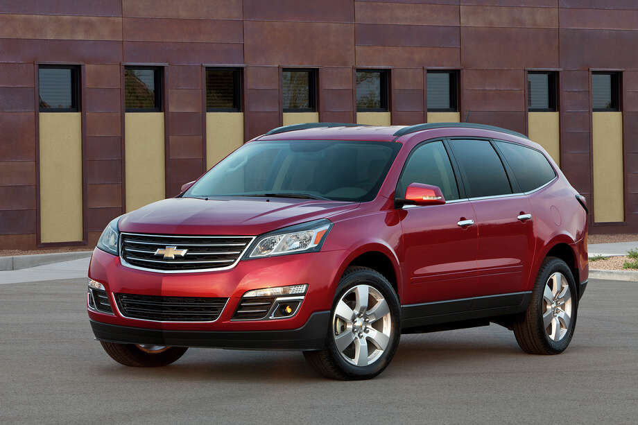 """Chevrolet Traverse LTZ, Buick Enclave, GMC AcadiaModel year being recalled: 2009-2014Number of vehicles being recalled: 1,339,355Reason for recall: The front safety lap belt cables can fatigue and separate over time. In a  crash, a separated cable could increase the risk of injury to front seat  passengers. Photo: General Motors / License Agreement - Please read the following important information pertaining to this image. This GM image is protected by copyright and is provided for use under a Creative Commons 3.0 License* for the purpose of editorial comment only. The use of this image for advertising, marketing, or any other commercial purposes is prohibited. This image can be cropped, but may not be altered in any other way, and each should bear the credit line """"© GM Co."""" General Motors makes no representations with respect to the consent of those persons appearing in these photos, or with regard to the use of names, trademarks, trade dress, copyrighted designs or works of art or architecture that are not the intellectual property of General Motors.  *The applicable Creative Commons 3.0 License can be found at http://creativecommons.org/licenses/by-nc/3.0"""