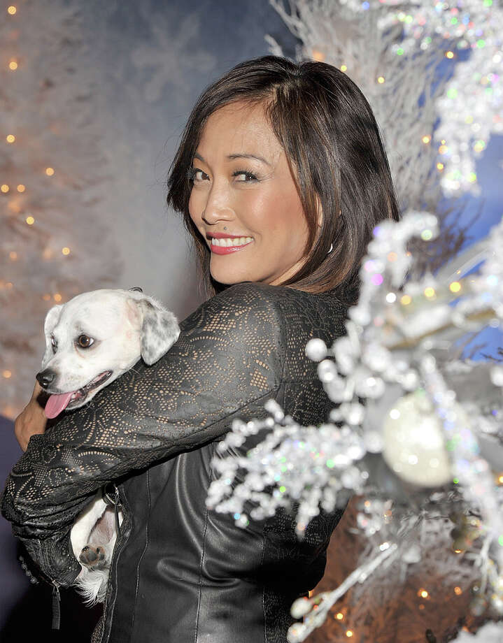 """""""Dancing With The Stars"""" judge Carrie Ann Inaba and Lola. Photo: John M. Heller, Getty Images / 2013 John M. Heller"""