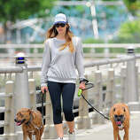 Actress Jessica Biel as seen walking her dogs on May 23, 2013 in New York City.