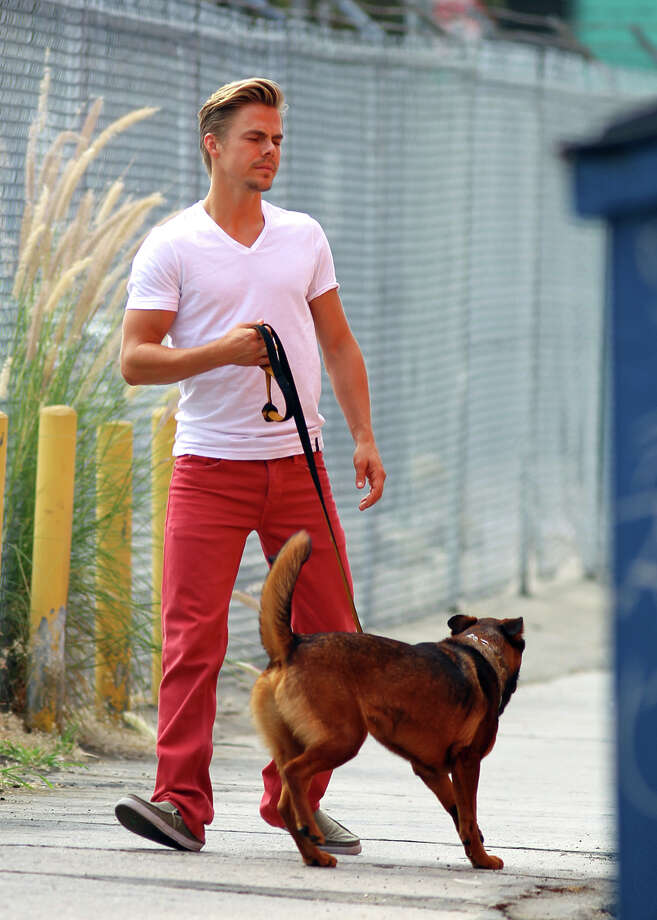 """Dancing with the Stars"" pro Derek Hough and EyBoi Photo: JB Lacroix, Getty Images / 2012 JB Lacroix"