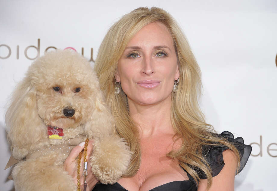 TV personality Sonja Morgan and her dog Milou. Photo: Michael Loccisano, Getty Images / 2012 Getty Images