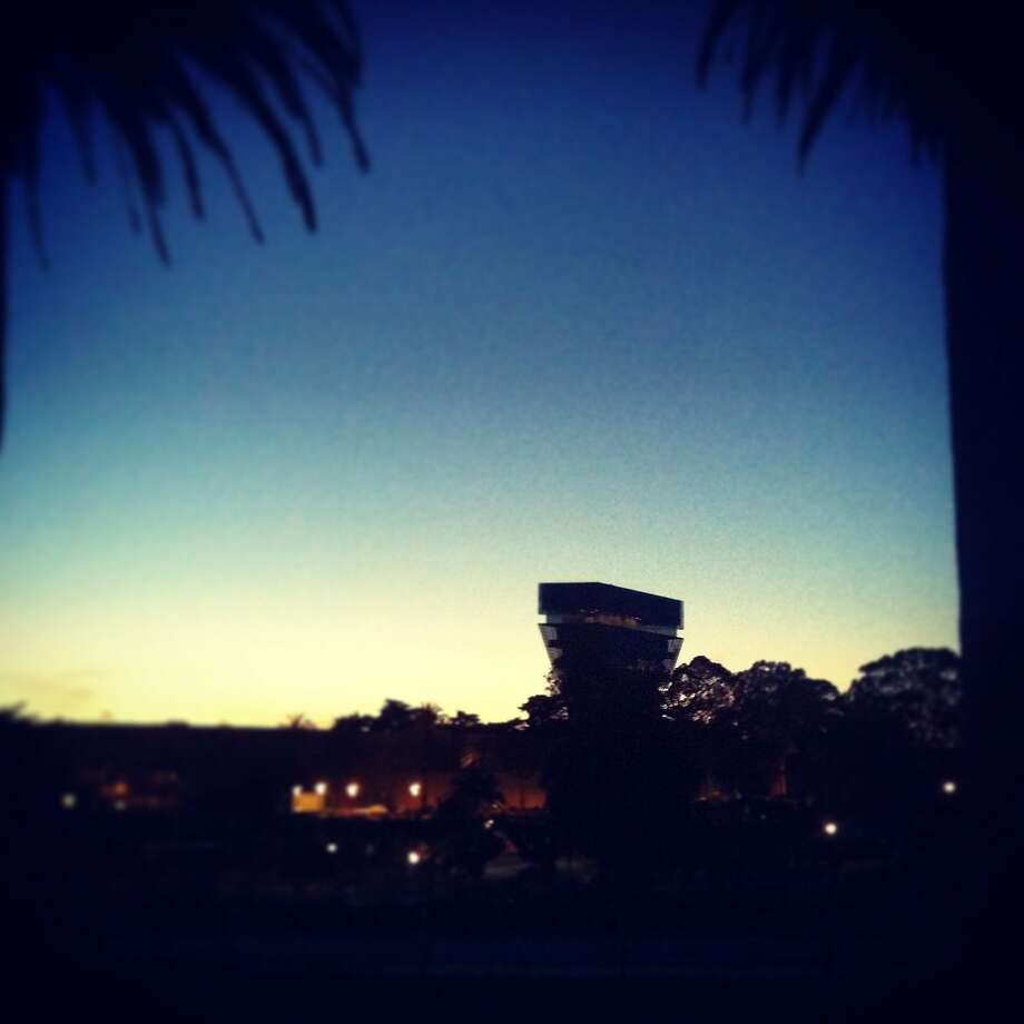 13 May, 8:32 p.m.: The de Young Museum at twilight. Photo: Catherine Bigelow, Special To The Chronicle