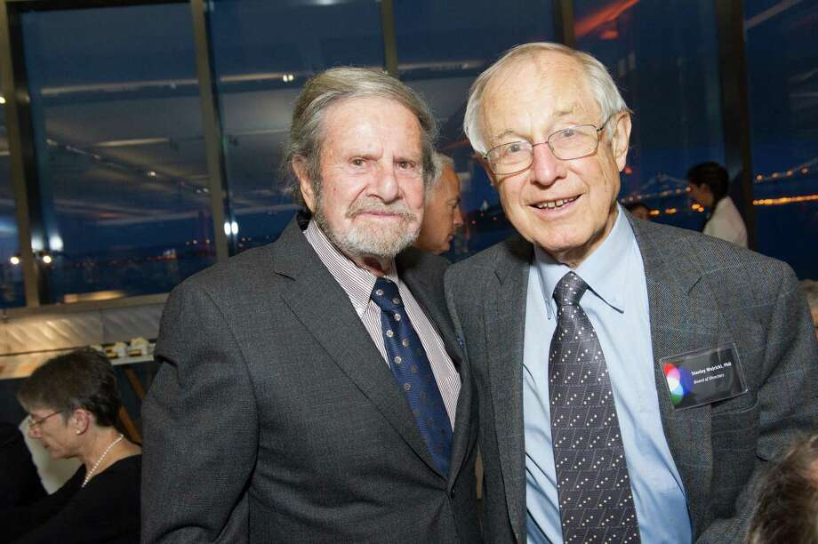 Ted Taube and Stanley Wojcicki at the Exploratorium Spring Gala on May 15, 2014. Photo: Drew Altizer Photography / Drew Altizer Photography