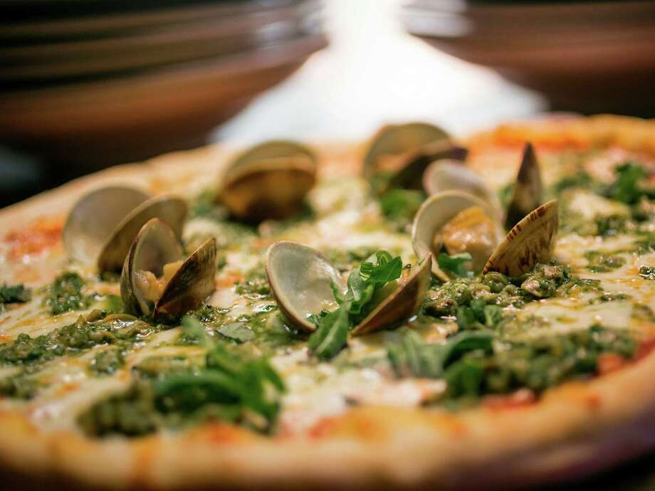 Bada Bing's clam pizza with garlic and pesto simply rocked. Photo: TODD SPOTH, Photographer / © TODD SPOTH