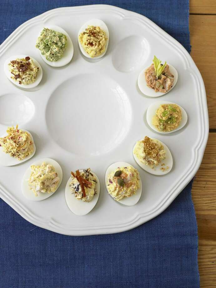 Pimento Cheese Deviled Eggs recipe from Country Living. Photo: Miki Duisterhof / ONLINE_YES