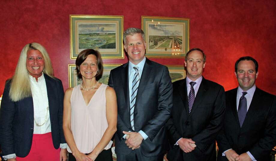 The Darien YMCA Board of Directors recently appointed five new directors. From left, Kristin Barnard, Maija Judelson, Brian Ramsay, James Pardo and John Schrenker. Photo: Contributed Photo, Contributed / Darien News Contributed