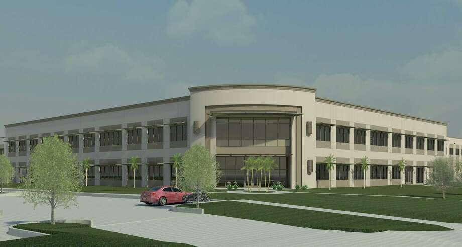 This rendering shows what the completed Aldi distribution center in Rosenberg will look like when it is completed in early 2016.This rendering shows what the completed Aldi distribution center in Rosenberg will look like when it is completed in early 2016.