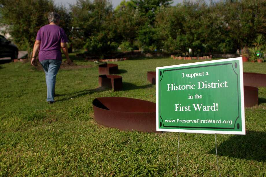 Janis Barnard, who has lived in the First Ward for 10 years, is active in the First Ward Community Garden. Preservationists say a growing public desire to live near downtown has increased pressure from developers and led to large-scale demolition of historic buildings in the area. Photo: Johnny Hanson, Staff / Houston Chronicle