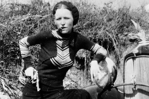 Circa 1932, American criminal Bonnie Parker who together with Clyde Barrow of ,Bonnie & Clyde infamy from August 1932 untill being ambushed and killed by police in May 1934