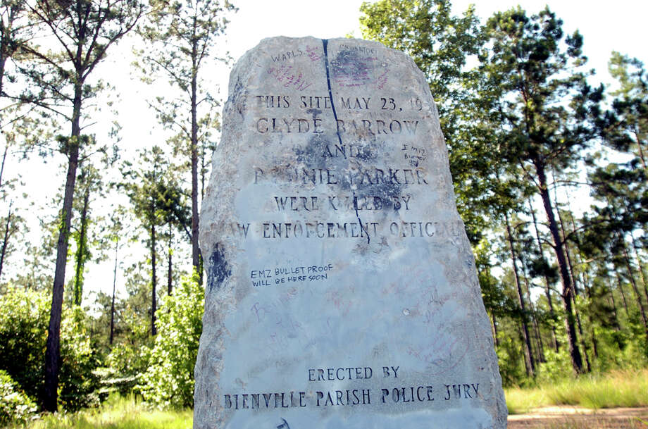 A monument where lawmen ambushed Bonnie Parker and Clyde Barrow is pictured on May 17, 2009, in Gibsland, La.  Photo: Associated Press