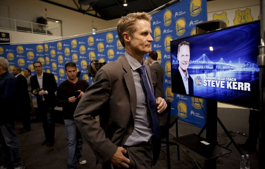 The new Golden State Warriors head coach Steve Kerr, was introduced during a press conference at their training facility in Oakland, Calif., on Tuesday May 20, 2014. Photo: Michael Macor, The Chronicle