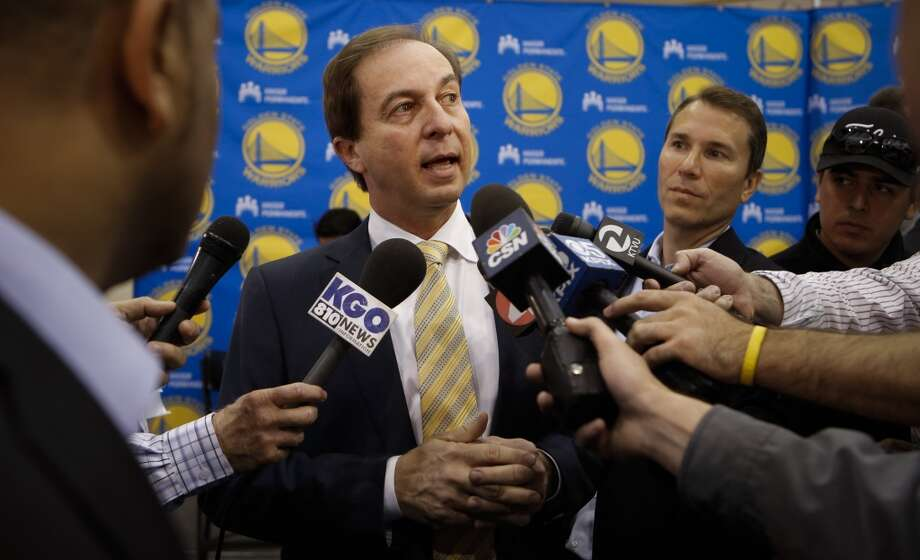 Team owner Joe Lacob, talks with the media as Golden State Warriors introduce their new head coach Steve Kerr, during a press conference at their training facility in Oakland, Calif., on Tuesday May 20, 2014. Photo: Michael Macor, The Chronicle