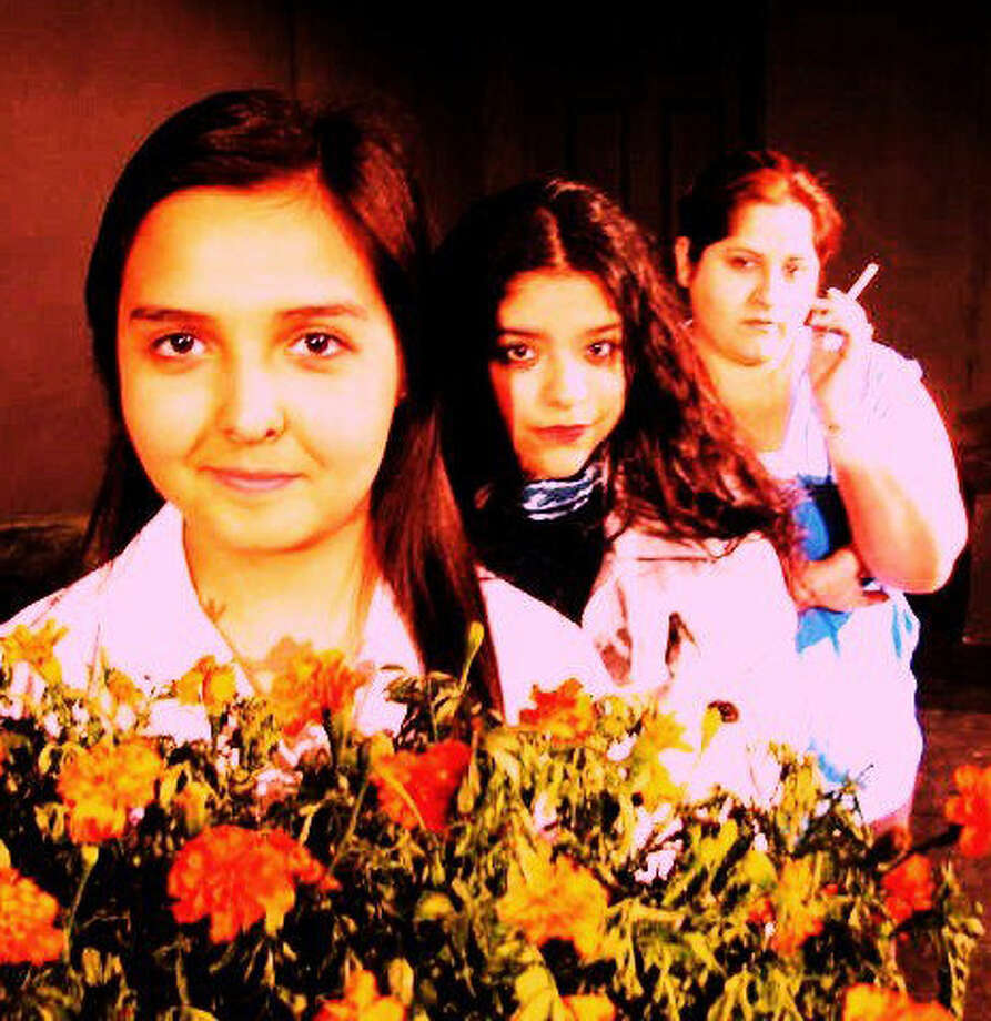 "Sonia Guerra (from left), Kaylynn Barriero and Laura Garza play a dysfunctional family in the Rose Theatre Company's staging of ""The Effect of Gamma Rays on Man-in-the-Moon Marigolds."" Photo: Courtesy Rose Theatre Company"