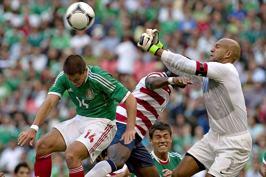 U.S. goalkeeper Tim Howard says this year's young team is a bit more talented than the 2010 squad on which he played. That group made the round of 16. Photo: Roberto Maya, AFP/Getty Images