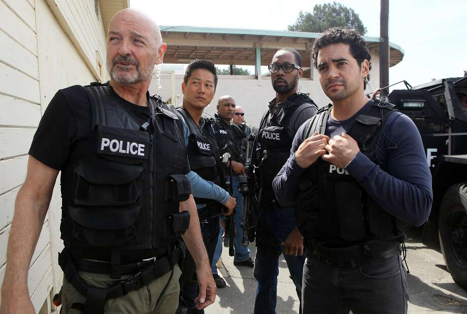 Terry O'Quinn (left) and Ramon Rodriguez play members of a task force trying to infiltrate major Los Angeles gangs. Photo: Ron Jaffe, Fox