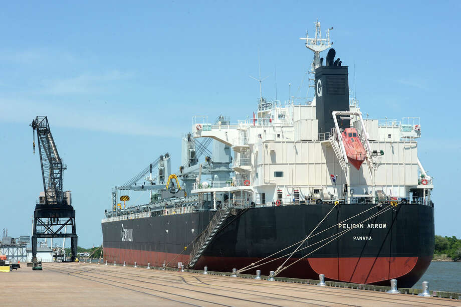 The Pelican Arrow docked at the Port of Port Arthur on Friday. Area shipping industry is keeping a close eye on a  congressional bill that would deepen the Sabine-Neches Waterway.   Photo taken Friday March 16, 2014 Guiseppe Barranco/@spotnewsshooter Photo: Guiseppe Barranco, Photo Editor
