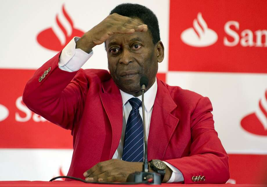 Pele said during an education news conference in Mexico that he sympathizes with World Cup protesters but not their violence. Photo: Alfredo Estrella, AFP/Getty Images