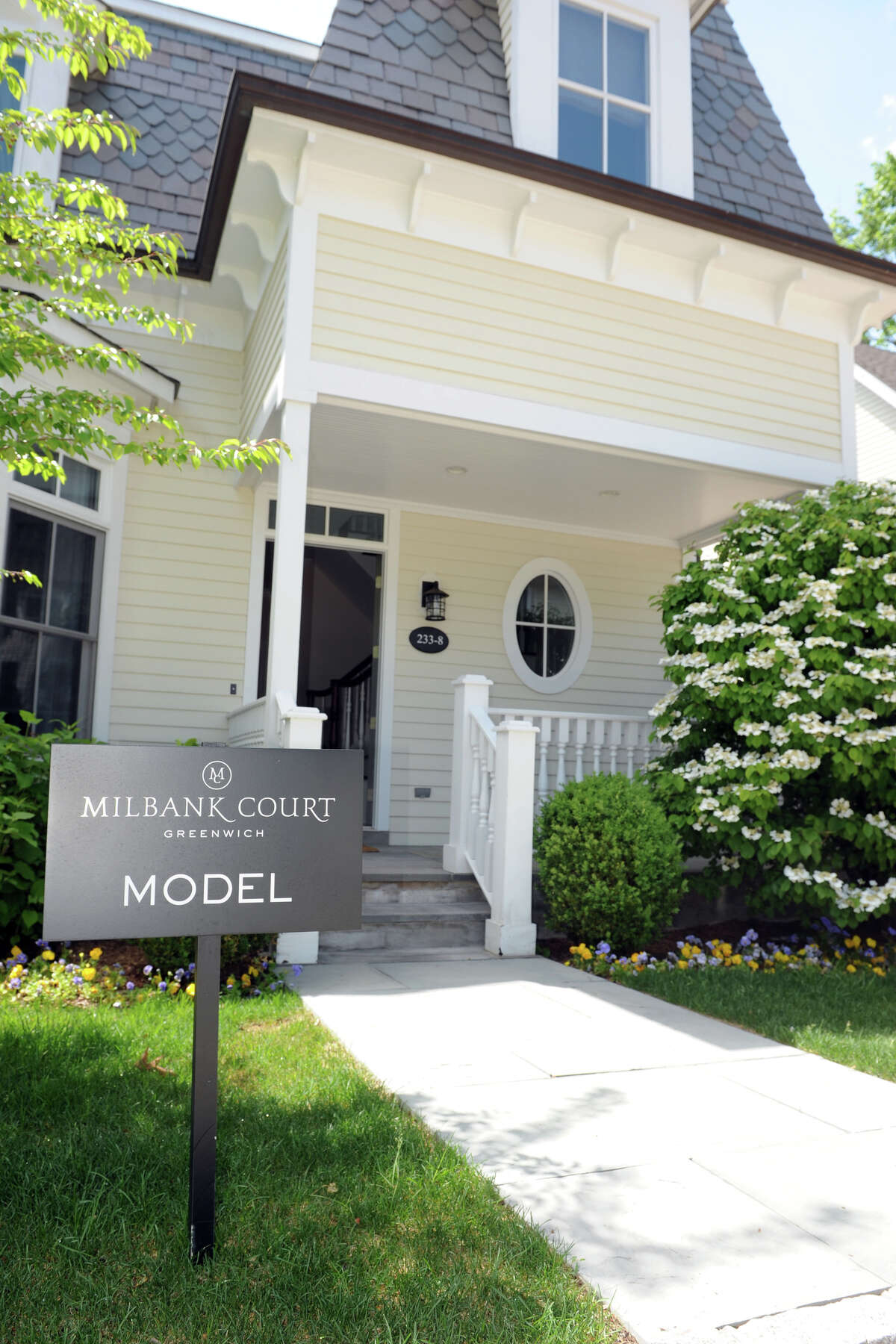 Milbank Court, a new condominium townhome neighborhood in Greenwich, Conn., May 20, 2014.