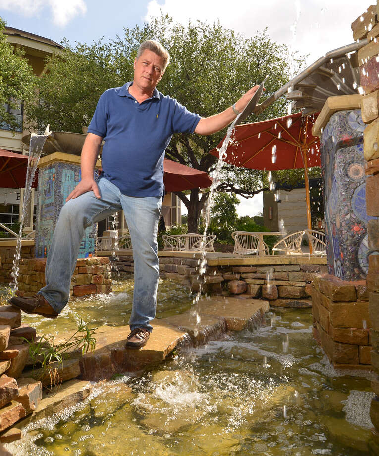 Michael Perry launched the locally based Fountain-Works three years ago. The niche business that has taken off, and the quick growth surprised him. Photo: Robin Jerstad / For The San Antonio Express-News