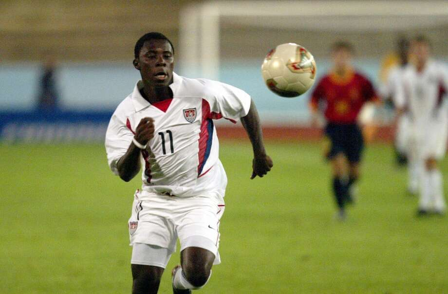 Freddy AduIn 2004, at the age of 14, Adu became the youngest American athlete to sign a professional contract after he was selected No. 1 overall in the MLS SuperDraft by D.C. United. But the Ghana native, who moved to the U.S. as an 8-year-old, hasn't turned into the transcendent star many predicted he could be. In 213 professional appearances with teams in the U.S., Portugal, Greece, Turkey and Brazil, Adu has netted just 34 goals. He made 17 appearances for the United States national team, including 9 in 2008, but hasn't suited up for the squad since 2011. Photo: Antti Aimo-Koivisto, AFP/Getty Images
