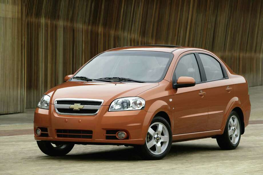Chevrolet Aveo LTModel year being recalled: 2014Number of vehicles being recalled: 218,000Reason for recall: The daytime running light module in the dashboard center stack can overheat, melt and catch fire. Photo: Uncredited, AP / General Motors