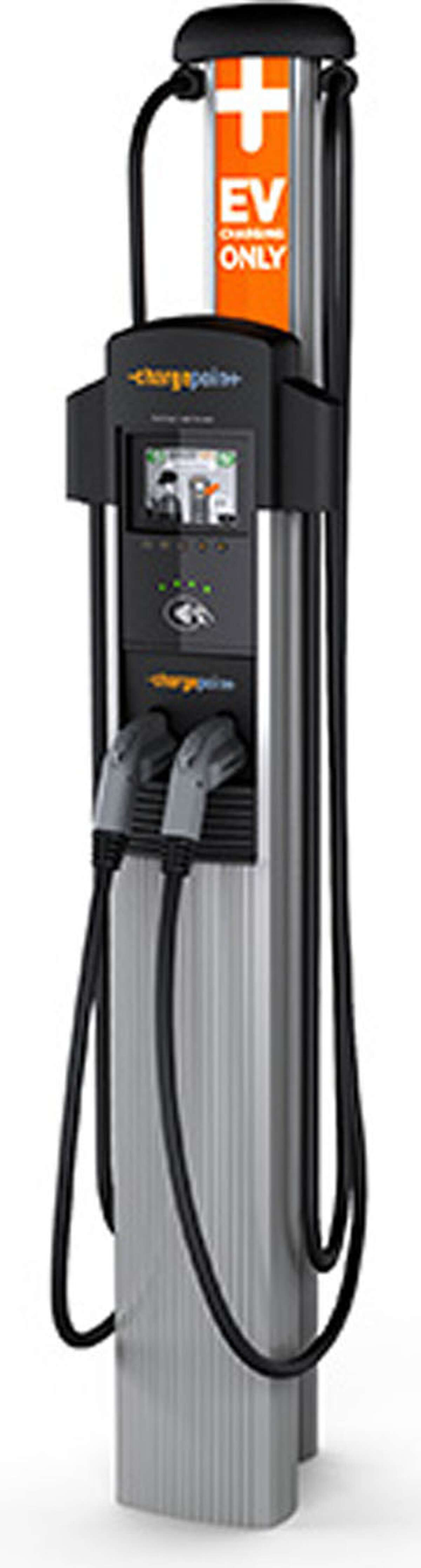 A ChargePoint public port similar to this will soon be offered to consumers in New Milford. May 2014