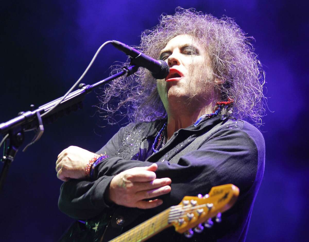 Robert Smith performs with the Cure, who will headline the Bottle Rock Napa festival on Friday. The Cure's Robert Smith performs on Day 2 of the 2013 Austin City Limits Music Festival at Zilker Park on Saturday, Oct. 5, 2013 in Austin, Texas. (Photo by Jack Plunkett/Invision/AP)
