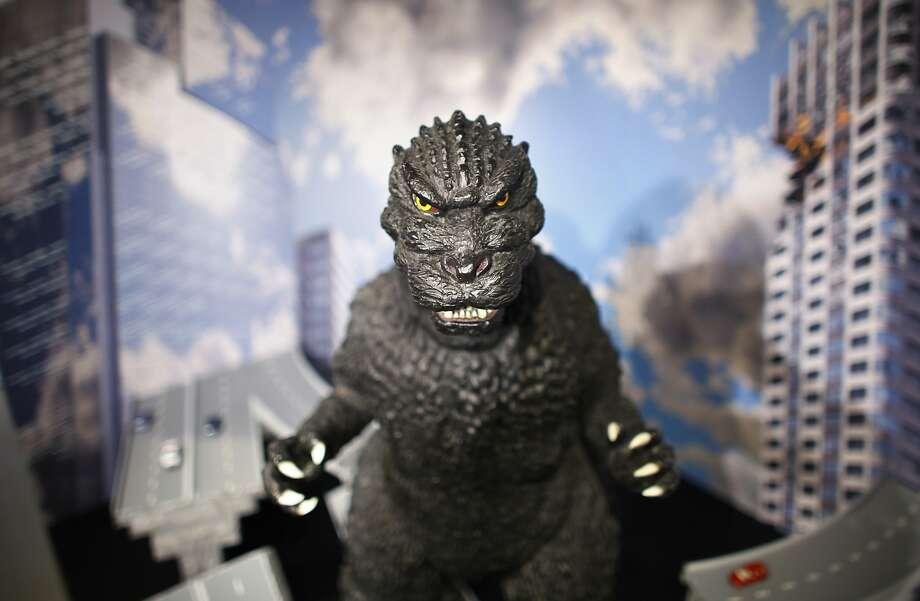 Godzilla, during a break from laying waste. Photo: Junji Kurokawa, Associated Press