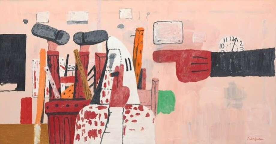 Guston, Philip American, born Canada, 1913 - 1980 Courtroom, 1970 Oil on canvas 170.2 x 327.7 cm (67 x 129 in.) Collection of Robert and Jane Meyerhoff © Estate of Philip Guston © 2013 The Josef and Anni Albers Foundation / Artists Rights Society (ARS), New York Photo: National Gallery Of Art