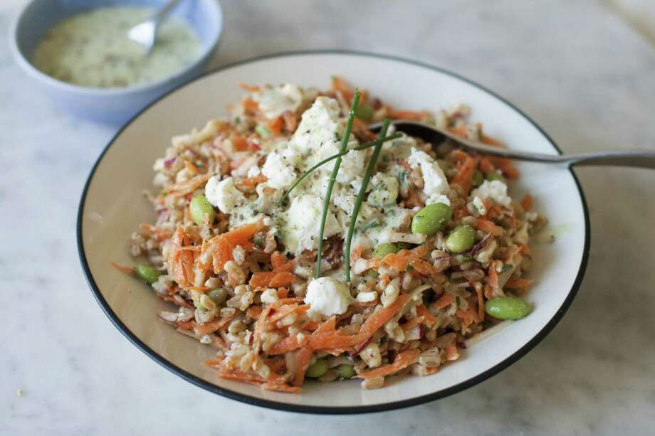 Farro and vegetable salad with cucumber ranch dressing (AP Photo/Matthew Mead) Photo: Matthew Mead / FR170582 AP