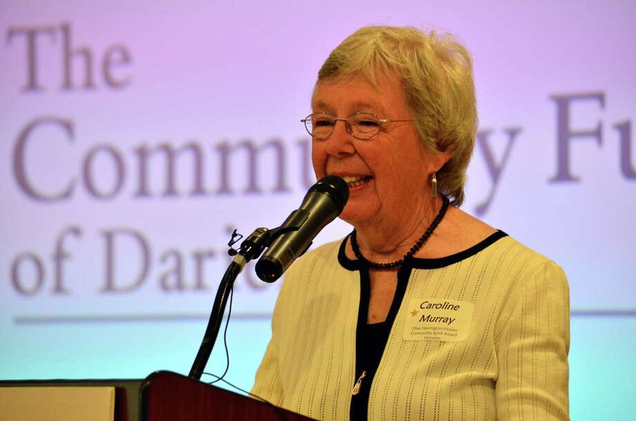 Caroline Murray was honored with the 10th annaul Obie Harrington-Howe award at the 35th Annual Darien Volunteer Recognition Day on Friday, May 16. Photo: Megan Spicer / Darien News