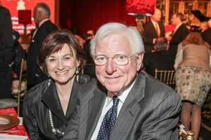 Linda Gale White with Governor Mark White  at the 2014 Tapestry Gala benefiting Interfaith Ministries for Greater Houston.