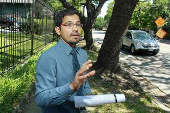 "Amar Mohite, who manages the transportation group in Houston's planning department, takes a look at Dunlavy Street. Houston amends its major thoroughfare plan annually, and Dunlavy may be changed from a four-lane thoroughfare to a two-lane thoroughfare. ""The question we are facing is, we have provided streets to move cars,""  Mohite said. ""As the traffic increases, are we going to take down homes  to maintain that lifestyle?"""