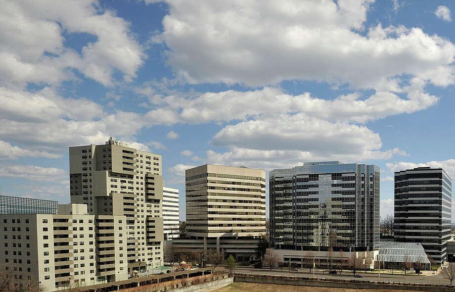 City of Stamford, Conn. skyline on Wednesday, April 9, 2014. Photo: Jason Rearick / Stamford Advocate