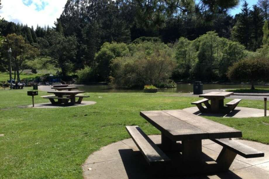 There are a good number of BBQ areas and a pond at Louis Sutter Playground in S.F.'s McLaren Park. Photo: S.F. Rec And Park Department