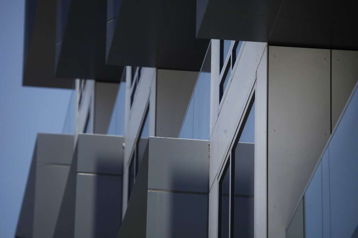 Windows are seen jutting out of Marlow on the corner of Van Ness Avenue and Clay Street on Friday, May 16, 2014 in San Francisco, Calif.