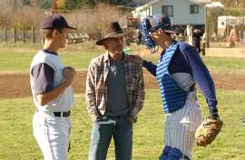 """from left:  Noah Miller as Clint Winston, Ed Harris as Charlie Winston, and Logan Miller as Lane Winston in """"Touching Home."""""""