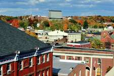 This is a view of downtown Danbury from the Bardo Parking Garage Sunday, Oct. 21, 2012.
