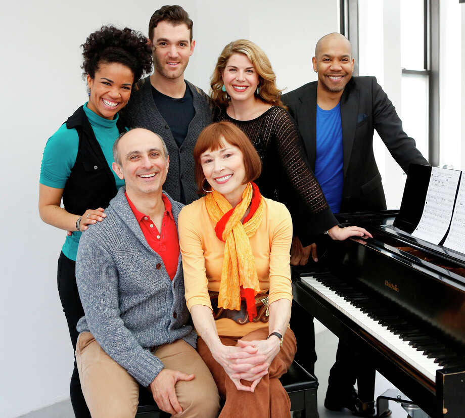 "The cast of the musical review ""Sing for your Shakespeare"" at the Westport Country Playhouse. Seated are  Stephen DeRosa and Karen Akers. Standing, from left, are Britney Coleman, Constantine Germanacos, Laurie Wells and Darius de Haas. The revue opens June 3 and runs through June 22. Photo: Westport News/Contributed Photo / Westport News"