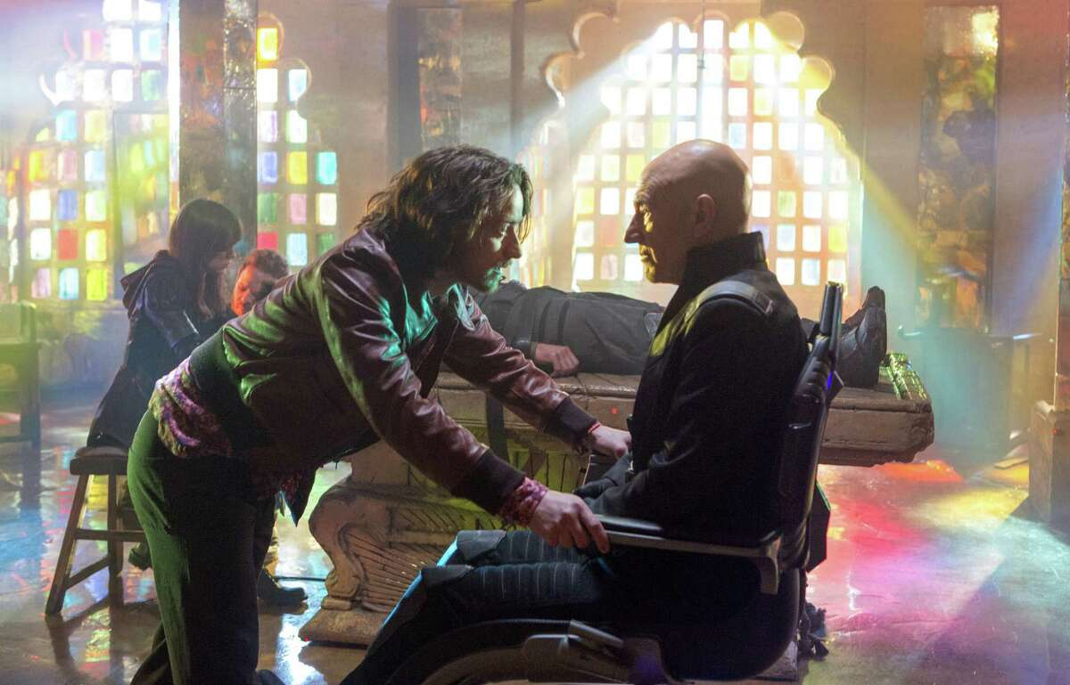 Charles Xavier (James McAvoy) meets his older self (Patrick Stewart) in