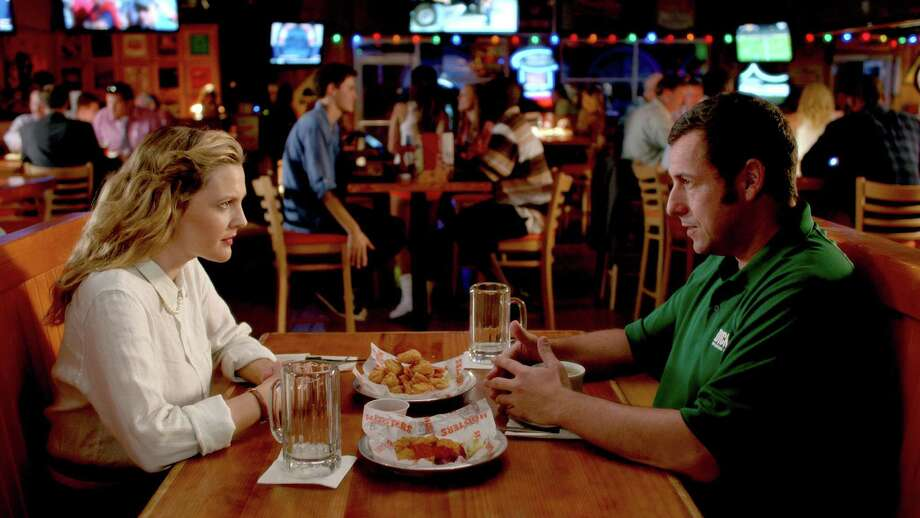"Lauren (Drew Barrymore) and Jim (Adam Sandler) endure a bad first date, but can't seem to shake each other in ""Blended."" Photo: Courtesy Of Warner Bros. Picture / Warner Bros. Pictures / ONLINE_CHECK"