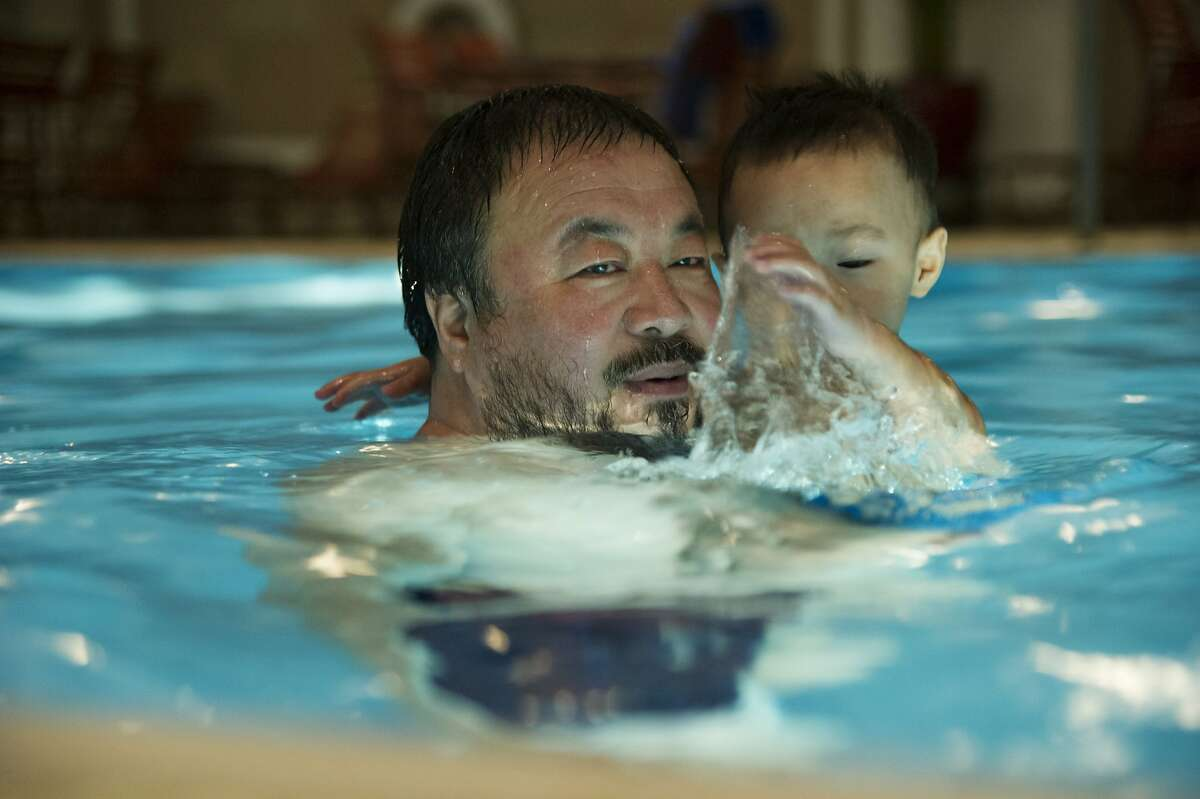 Ai Weiwei and son Ai Lao in,
