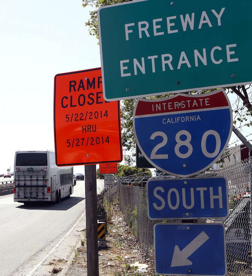 The ramp from 6th Street onto southbound I-280, as seen on Wednesday May 21, 2014, wasn  part of the closure of the freeway in San Francisco. Photo: Michael Macor, The Chronicle