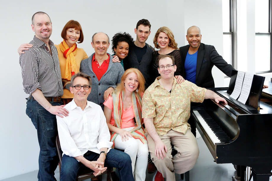 "Westport Country Playhouse's will have a world premiere with the musical revue, ""Sing for Your Shakespeare,"" playing June 3 to 22, 2014. The show looks at how Shakespeare's works have influenced the American Songbook. It will feature a six-member cast. Members of the cast and creative team are, from left, seated: Mark Lamos, Deborah Grace Winer, Wayne Barker; standing: Dan Knechtges, Karen Akers, Stephen DeRosa, Britney Coleman, Constantine Germanacos, Laurie Wells and Darius de Haas. Contributed photo/Carol Rosegg Photo: Contributed Photo / Stamford Advocate Contributed"