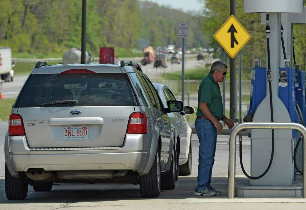 Travelers fill up with fuel at the Guilderland Service Area on the New York State Thruway Wednesday afternoon May 21, 2014 in Albany, N.Y. (Skip Dickstein / Times Union)